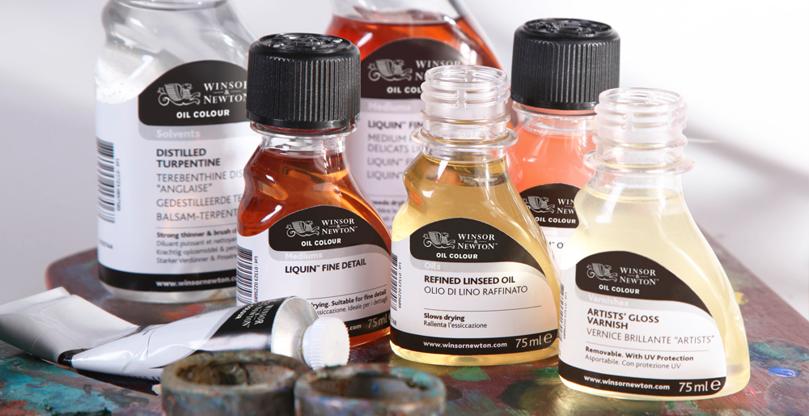 Medier, oljer og løsemidler for oljemaling
