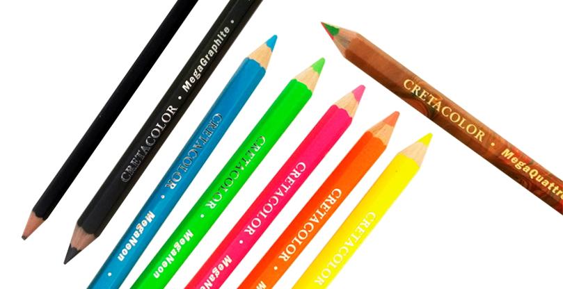 Cretacolor Mega - Ekstra tykke blyanter!