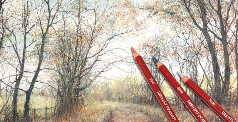 Derwent Drawing i natur- og sepiatoner