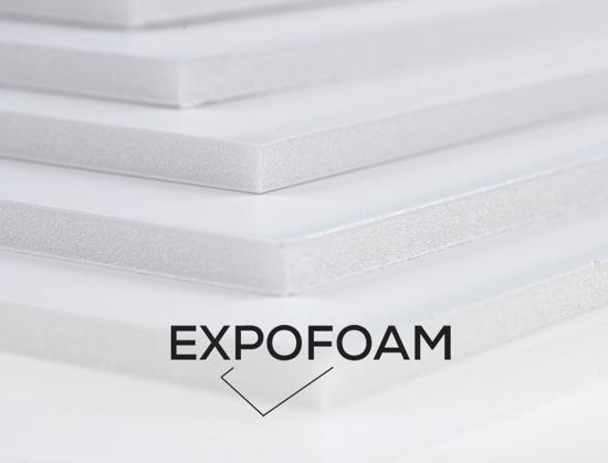 Bilde av Expofoam White 1-sidig lim, 5 mm, 100 x 140 cm