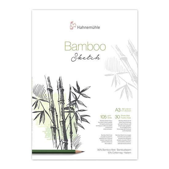 Bilde av Blokk skisse Bamboo 105gr. A3