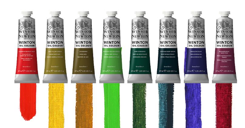 Åtte nye Winton oljefarger